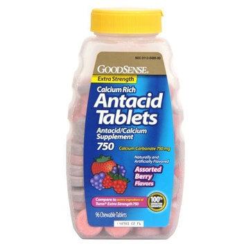 Good Sense GoodSense Calcium Antacid Extra Strength Tablets, Berry Chew, 750 mg, 96 Count