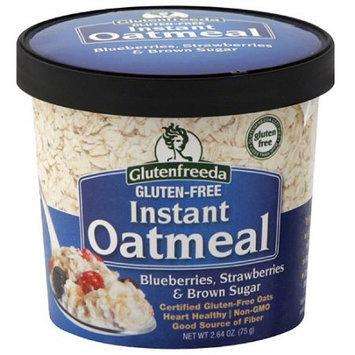 Glutenfreeda's Glutenfreeda Blueberries, Strawberries & Brown Sugar Gluten Free Instant Oatmeal, 2.64 oz, (Pack of 12)