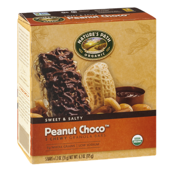 Nature's Path Organic Sweet & Salty Peanut Choco Chewy Granola Bars - 5 CT