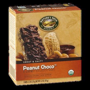 Nature's Path Organic Sweet & Salty Peanut Choco Chewy Granola Bars - 5 CT