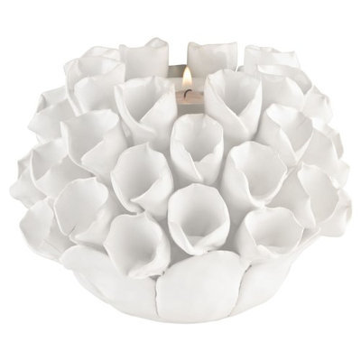 Dimond Home Decor fixture Model 9167-040 White Ceramic Bud Candle Holder. Transitional from the White finishes group in White Glaze. Candle Holders category fro