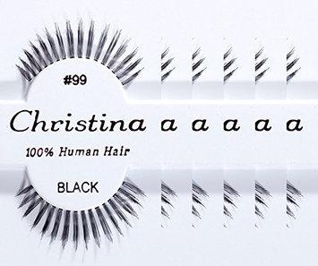 Christina 100% Human Hair False Eyelashes #99