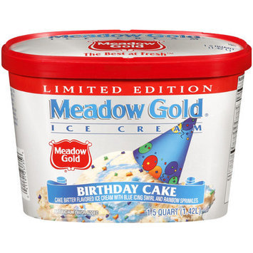 Meadow Gold Birthday Cake Ice Cream, 1.5 qt
