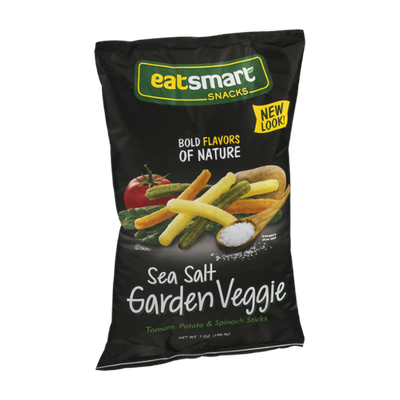 EatSmart Snacks Tomato, Potato & Spinach Sticks Sea Salt Garden Veggie