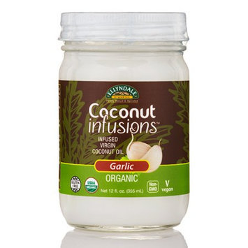 Coconut Infusions Garlic Ellyndale Organics 12 fl oz Glass Jar