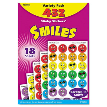 Trend TREND Stinky Stickers Variety Pack, Smiles, 432/Pack