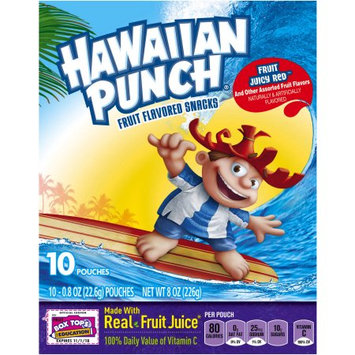 Hawaiian Punch Fruit Flavored Snacks Fruit Juicy Red