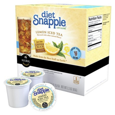 Keurig Diet Snapple Low Calorie Lemon Iced Tea K-Cups 16 ct