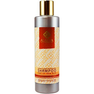 Alaffia- Shea Butter & Coffee Revitalizing Shampoo- 8 oz