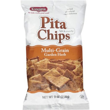 Kangaroo Pita Chips Multi-Grain Garden Herb 9 Oz Pack Of 12