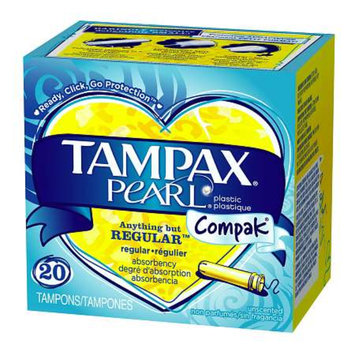 Tampax Pearl Tampons with Pearl Compact Applicator
