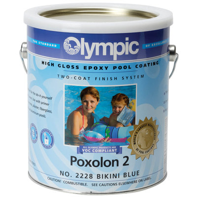 Topo-logic Systems, Inc. TOPO-LOGIC SYSTEMS, INC. Poxolon 2 Epoxy Pool Coating Blue Ice Pool Paint - TOPO-LOGIC SYSTEMS, INC.