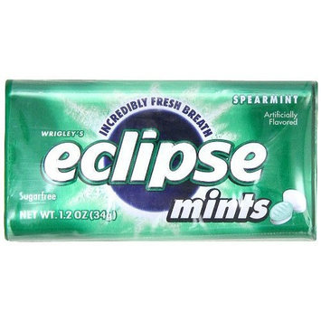 Eclipse Spearmint Sugarfree Mints,1.2-Ounce Boxes (Pack of 8)