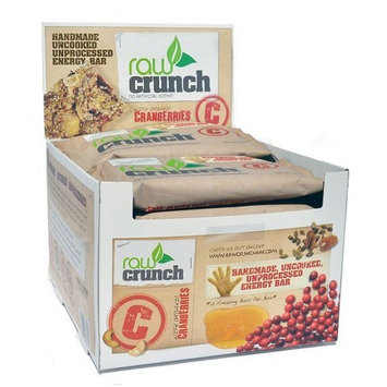 Body Engineering Inc. Raw Crunch Bars - Organic Cranberry - Box 12 Bars