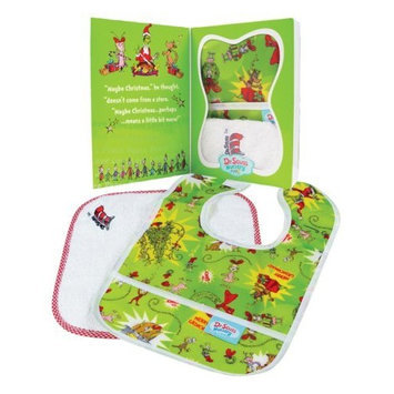 Bumkins Baby Gift Set - Bib/Washcloth - Dr. Seuss Grinch