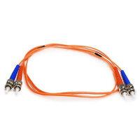 Monoprice Fiber Optic Cable, ST/ST, OM1, Multi Mode, Duplex - 1 meter (62.5/125 Type) - Orange