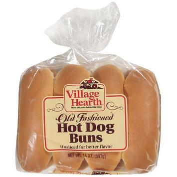 Village Hearth Old Fashioned Hot Dog Buns, 14 oz