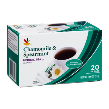 Ahold Chamomile & Spearmint All Natural Herbal Tea Bags- 20 CT