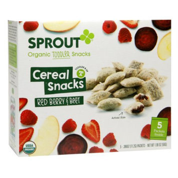 Sprout Organic Toddler, Fruit & Veggie Cereal Snack Red Berry & Beet, 5 ea