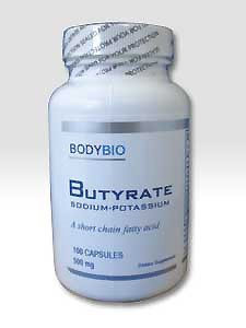 Sodium-Potassium Butyrate 500 mg 100caps by BodyBio/E-Lyte