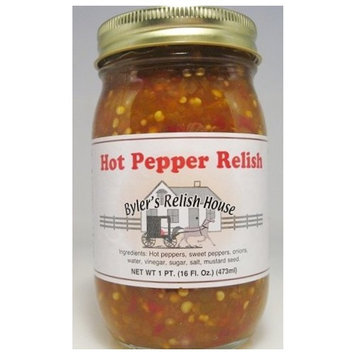 Byler's Relish House Homemade Amish Country Hot Pepper Relish 16 oz.