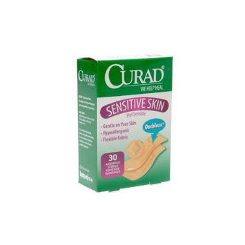 Curad Bandages Sensitive Skin Assorted Sizes - 30 ea