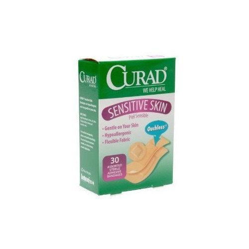 Curad Bandages Sensitive Skin Assorted Sizes - 30 ea