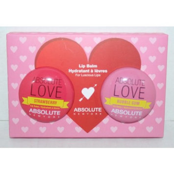 Absolute LOVE Lip Balm - Strawberry and Bubble Gum Set