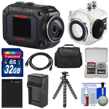JVC GC-XA2 Adixxion Quad Proof Full HD Wi-Fi Digital Video Action Camera Camcorder with Underwater Housing + 32GB Card + Battery + Charger + Case + Tripod + Kit