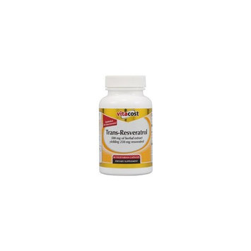 Vitacost Brand Vitacost Trans-Resveratrol 500 mg of herbal extract yielding 250 mg Trans-resveratrol -- 60