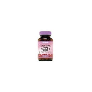 Bluebonnet Earth Sweet Vitamin B-12 5000 mcg Chewable Tablets, Raspberry, 60 Count
