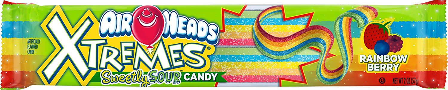 Airheads Xtremes Sweetly Sour Candy Rainbow Berry