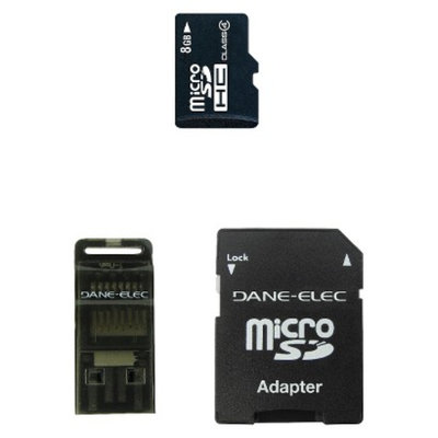 Dane-Elec 3-in-1 8GB Micro SDHC w/Target Rewards - Black (DA-