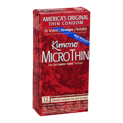 Kimono Micro Thin Latex Condoms - 12 CT