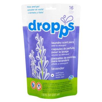 Dropps Laundry Scent Pacs, 16ct, Lavender, 7.8 fl oz