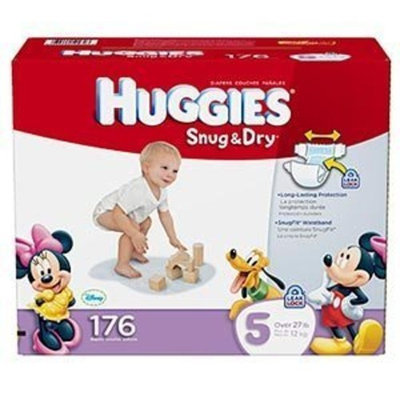 Huggies Size 5 Diapers 176 count