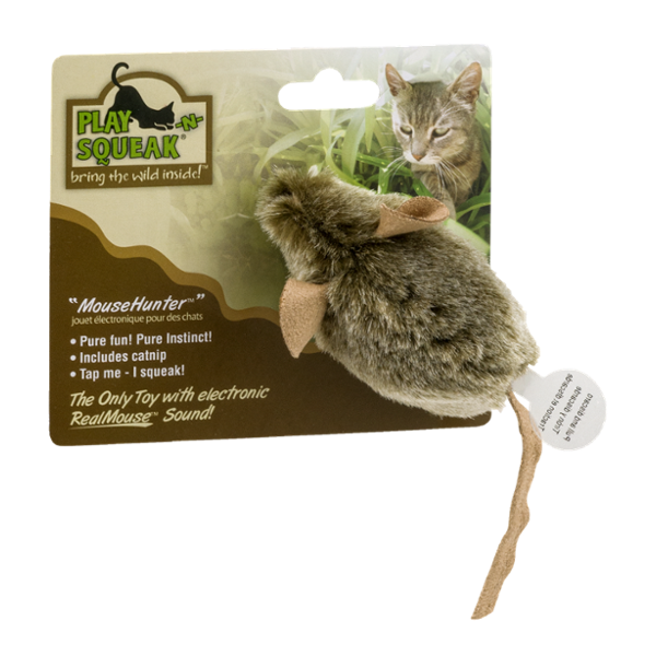 Play -N- Squeak MouseHunter Cat Toy