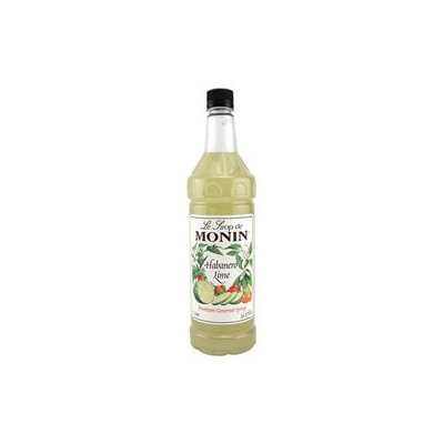 Monin Flavored Syrup, Habanero Lime, 33.8 oz Plastic Bottles, 4 pk