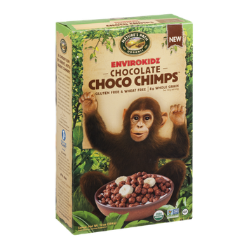 Nature's Path Organic Envirokidz Gluten & Wheat Free Cereal Chocolate Choco Chimps