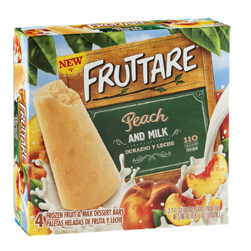 Fruttare Peach and Milk 4 ct