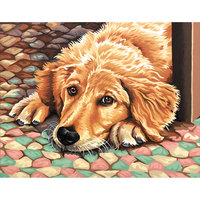 Dimensions 14x11 Paint By Number Kit - Dog Tired
