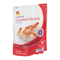 Ahold Cooked Shrimp Colossal Tail-On