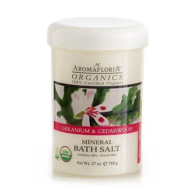 Organics By Organics Geranium Cedarwood Mineral Bath Salt 27 Oz