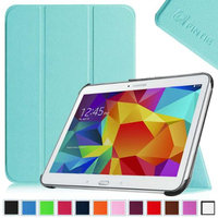 Fintie Smart Shell Case Ultra Slim Lightweight Stand Cover for Samsung Galaxy Tab 4 10.1 Tablet, Blue