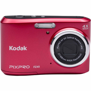 David Shaw Silverware Na Ltd Kodak PIXPRO FZ41 Compact Digital Camera - 16MP 4X Optical Zoom HD 720p Video-Red