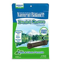 Natural Balance Grain Free Fresh and Clean Medium Dog Dental Chews