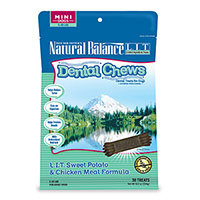 Natural Balance Limited Ingredient Grain Free Sweet Potato and Chicken Meal Mini Dog Dental Chews
