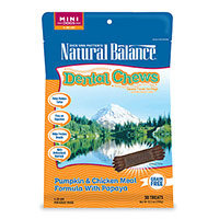 Natural Balance Grain Free Pumpkin and Chicken Meal Mini Dog Dental Chews