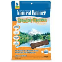 Phillips Feed & Pet Supply Natural Balance Dog Dental Chews Pumpkin SM/MD