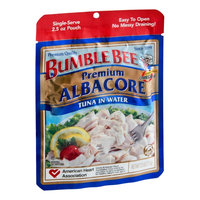 Bumble Bee Premium Quality Albacore Tuna in Water Single Serve Pouch